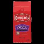 Community Coffee Ground Mardi Gras King Cake